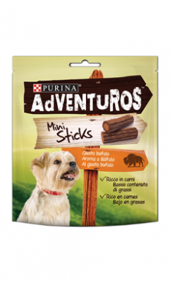Adventuros Mini sticks Buffalo flavor 2 X 90 g