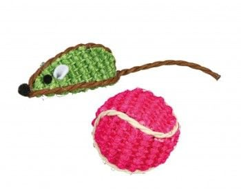 Trixie Set Of Mouse And Ball Sisal 5 Cm / Diameter 4 Cm