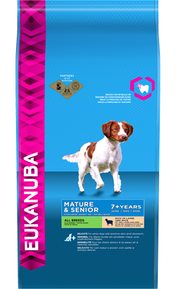 Eukanuba Mature & Sénior All Breeds | Lamb & Rice 2,5 Kg