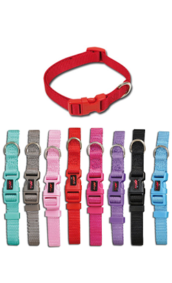 Nayeco Basic Collar Nylon | 10 mm x 20-30 cm Vermelha