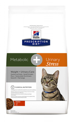 Hills Prescription Diet Metabolic + Urinary Stress Feline Chicken 1,5 kg