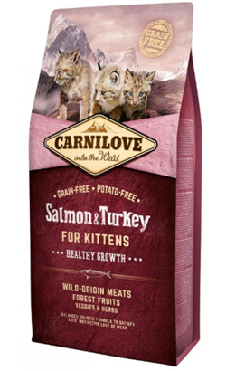 Carnilove Kitten Healthy Growth Salmon & Turkey 400 g