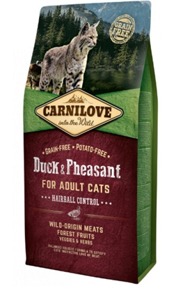 Carnilove Cat Adult Hairball Control Duck & Pheasant 2 kg