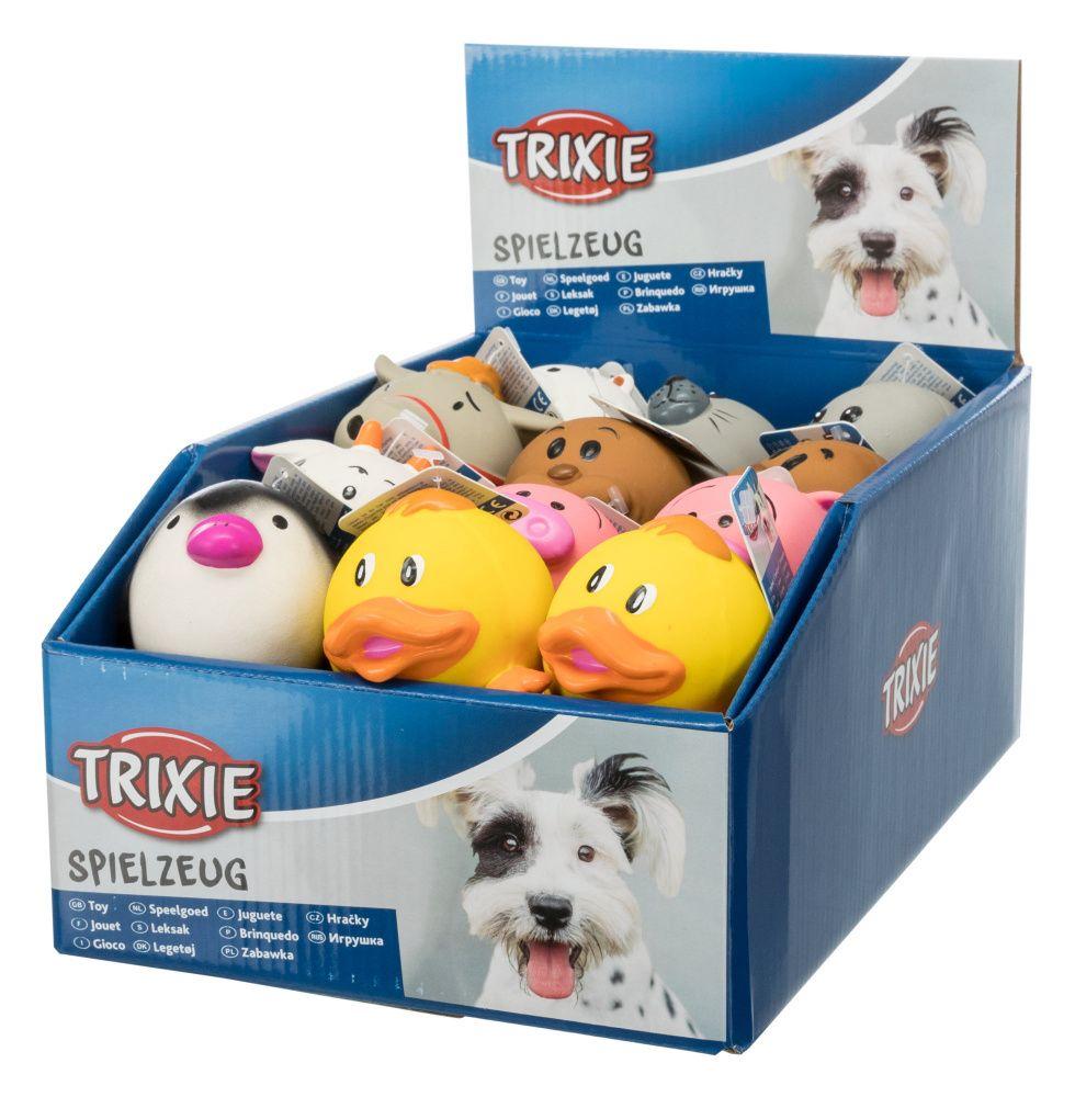 Trixie Latex Animal Assortment of Balls with Sound (24 pcs) - 6 cm