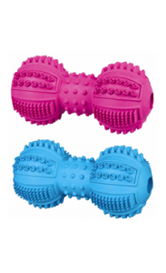 Trixie Brinquedo Denta Fun Dumbbell Natural Rubber | Cores Sortidas 9 cm