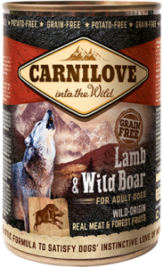 Carnilove Lamb & Wild Boar Adult Dog | Wet (Lata) 400 g
