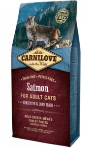 Carnilove Cat Adult Sensitive & Long Hair Salmon 400 g