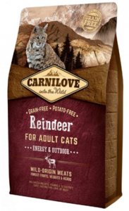 Carnilove Cat Adult Energy & Outdoor Reindeer 400 g