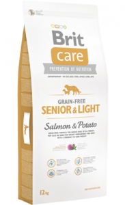 Brit Care Grain-free Dog Senior & Light | Salmon & Potato 3 kg