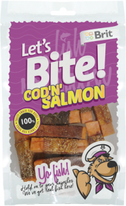 Brit Let's Bite Cod'n' Salmon 80 g