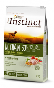 True Instinct Dog No Grain Medium & Maxi Adult Chicken 2 kg