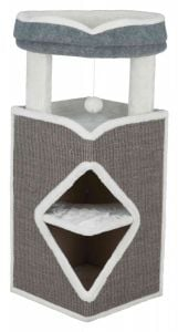 Trixie Arma Cat Tower 98 Cm (Gray / White / Gray)