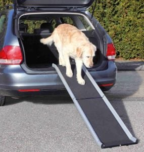 Trixie Petwalk Folding Ramp in Aluminum for Auto Access