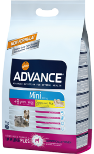 Advance Dog Mini Senior +8 | Chicken & Rice 3 Kg