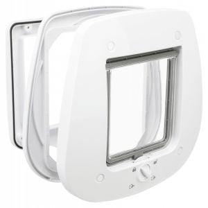 Trixie 4-Way Flap Door for Glass, 27x26cm, White