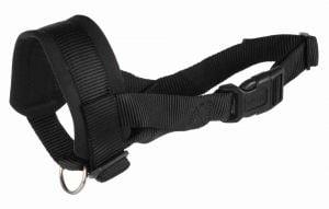 Trixie Bozal Loop en nylon para perros de razas grandes, Negro, XXL