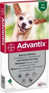 Advantix 40 Cão < 4 Kg 1 caixa com 4 pipetas