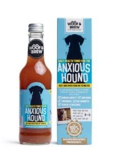Woof & Brew Anxious Hound 330Ml - suplemento liquido para perros