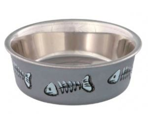 Trixie Bowl Stainless Steel / Plastic for cats 0.25 lt / diameter 12 cm