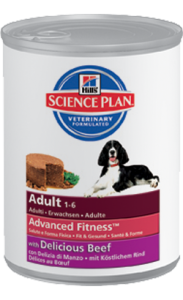 Hills Science Plan Canine Adult Beef | Wet (Lata) 2 X 370 g