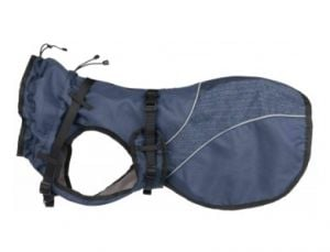 "Trixie Coat ""Duo"" With Harness For Dogs (Blue)"