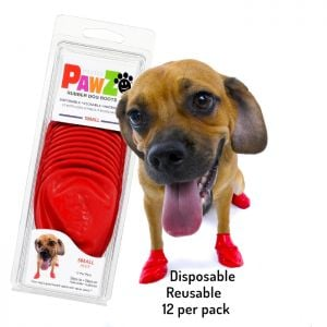 Protex Pawz Rubber Dog Boots Red S