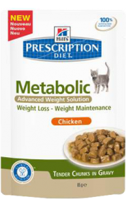 Hills Prescription Diet Feline Metabolic | Wet (Saqueta) 12 X 85 g