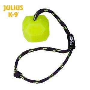 Trixie 9-K bola de Julio de silicona con la cuerda (amarillo / Hard) 6 cm de diámetro