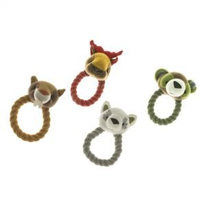 IMAC Animal Plush and Rope Ring for Dogs - 14 cm