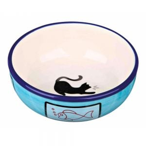 Trixie Ceramic Bowl Cat Silhouette 0.3 Lt / Ø 12 cm