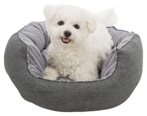"""Trixie Bed """"Finley"""" Woven Fabric ø 50 cm (Grey / White)"""