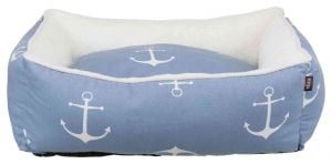 Trixie Plush Anchor Bed 80 × 65 Cm (Blue / White)