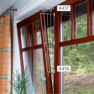 Trixie Protective Metal Grille for Windows (Side Panel) - 62 x 16/8 cm