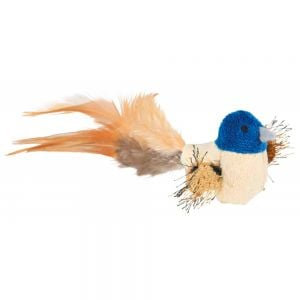 Trixie Bird Plush With Feathers 8 cm