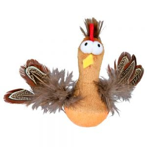 "Trixie Chicken ""Always-In-Pe"" Plush with Feathers 10 cm"