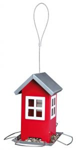Trixie Bird Feeder - Red/Silver