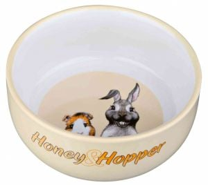 Trixie Gamela Em Ceramica Honey & Hopper - 11 Cm / 250 Ml