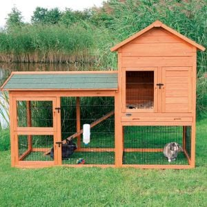Trixie Small Animal Hutch with Enclosure 199 × 146 × 93 cm
