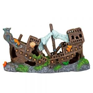 Trixie Aquarium Decor Shipwreck Sunk 23 Cm