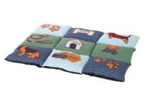 "Trixie Blanket / Pillow ""Patchwork"" 80x55 cm (Blue / Green)"