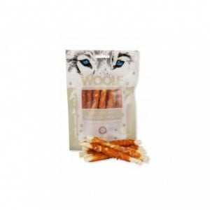 Woolf Chicken And Rawhide Twister 100g