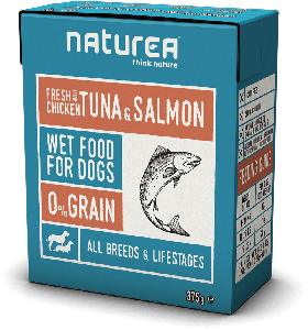 Naturea Wet Dog Chicken with Atum & Salmon 375g