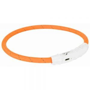 "Trixie Colar Luminoso ""Flash Light Usb"" L-XL (65 cm) (Laranja)"