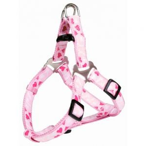 "Trixie Harness Step-In ""Mod.Art - Rose Heart"" Size XS (Pink)"