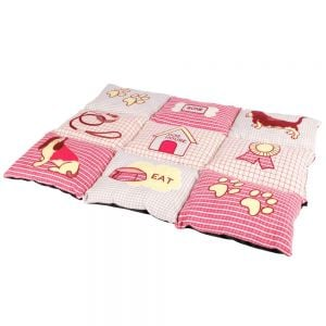 Trixie Patchwork Lying Mat 80X55 cm (Red / Beige)